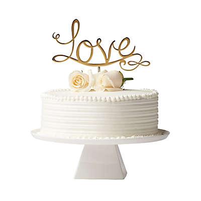 """Olivia & Oliver """"Love"""" Cake Topper in Polished Gold"""