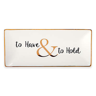 "Olivia & Oliver ""To Have & to Hold"" Trinket Tray in Gold"