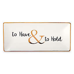 "Olivia & Oliver®""To Have & to Hold"" Trinket Tray in Gold"