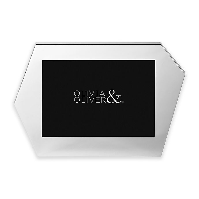 Alternate image 1 for Olivia & Oliver Riley 5-Inch x 7-Inch Picture Frame in Silver
