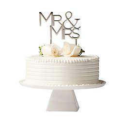 "Olivia & Oliver™ ""Mr. & Mrs."" Cake Topper in Silver"