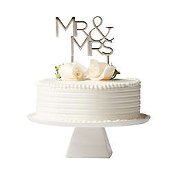 "Olivia & Oliver™ ""Mr. & Mrs."" Cake Topper in Silver"