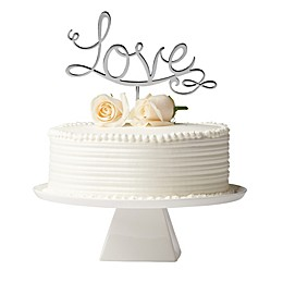 "Olivia & Oliver™ ""Love"" Cake Topper in Silver"