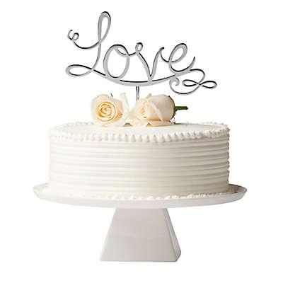 """Olivia & Oliver """"Love"""" Cake Topper in Silver"""