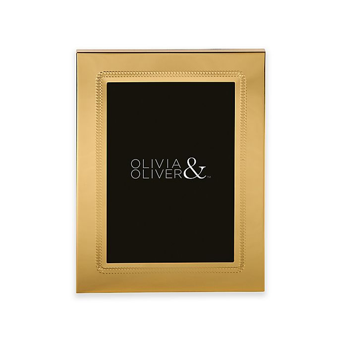 Alternate image 1 for Olivia & Oliver® Parker 5-Inch x 7-Inch Polished Gold Picture Frame