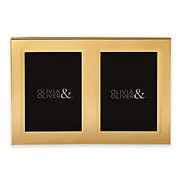 Olivia & Oliver® Parker 5-Inch x 7-Inch Polished Gold Double Invitation Picture Frame