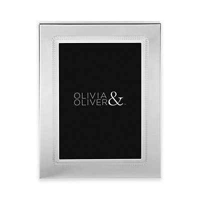 Olivia & Oliver Parker 5-Inch x 7-Inch Silver Plated Picture Frame