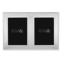 Olivia & Oliver® Parker 5-Inch x 7-Inch Silver Plated Double Invitation Picture Frame