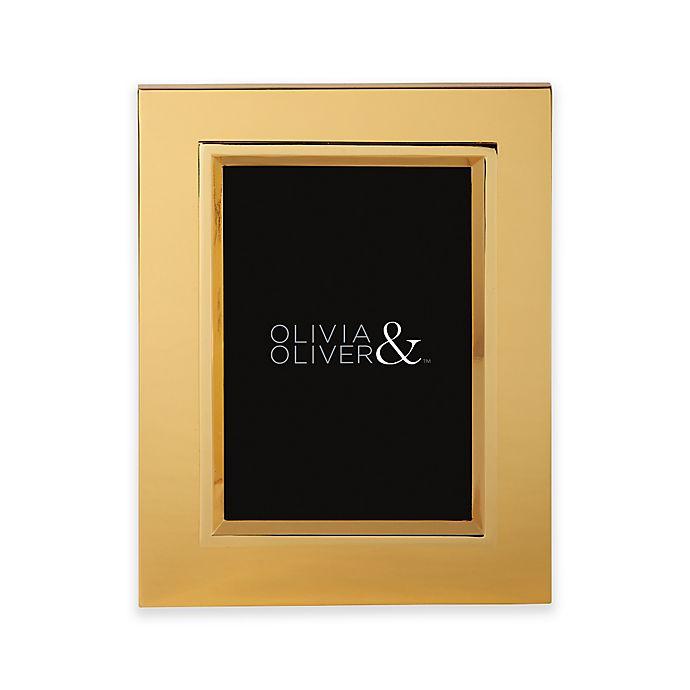 Alternate image 1 for Olivia & Oliver® Madison 5-Inch x 7-Inch Polished Gold Picture Frame
