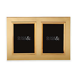 Olivia & Oliver® Madison 5-Inch x 7-Inch Polished Gold Double Invitation Picture Frame