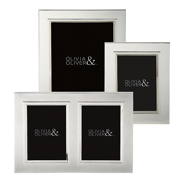 Alternate image 1 for Olivia & Oliver Madison Silver Plated Picture Frame