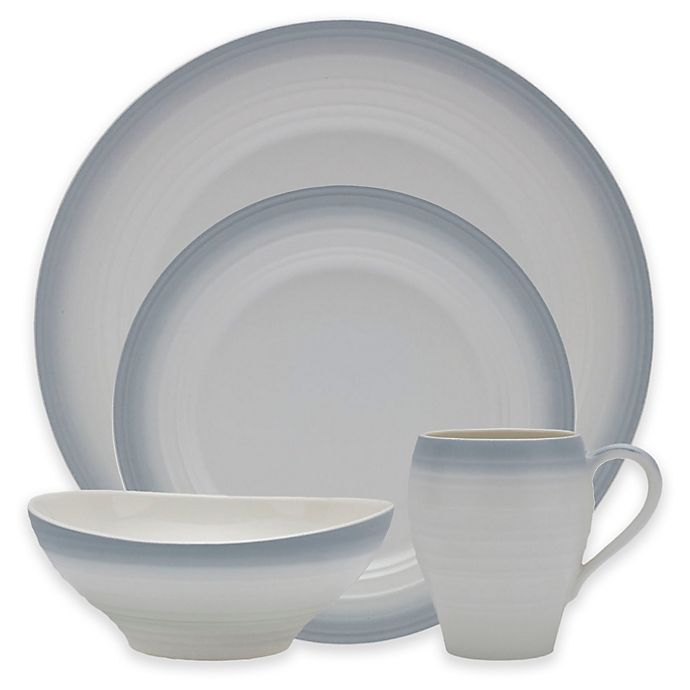 Alternate image 1 for Mikasa® Swirl Ombre Dinnerware Collection in Grey