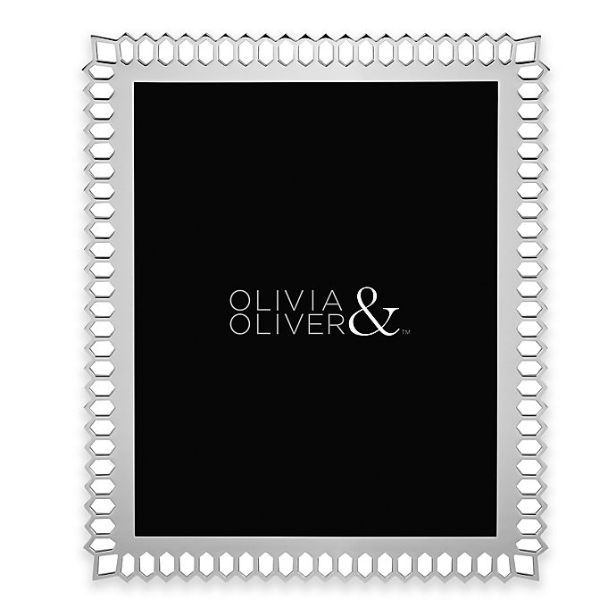 Alternate image 1 for Olivia & Oliver® Aubrey 8-Inch x 10-Inch Picture Frame in Silver