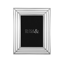 Olivia & Oliver® Chloe 5-Inch x 7-Inch Picture Frame in Silver