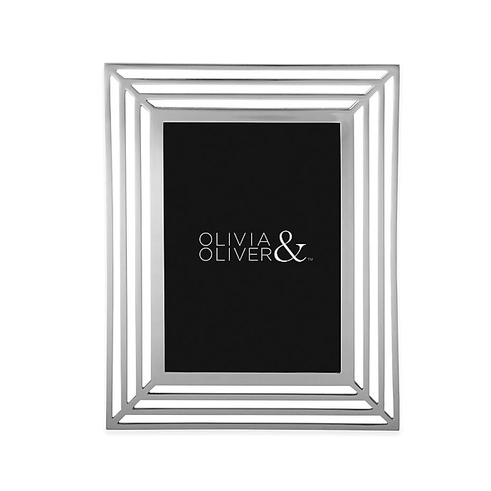 Alternate image 1 for Olivia & Oliver® Chloe 5-Inch x 7-Inch Picture Frame in Silver
