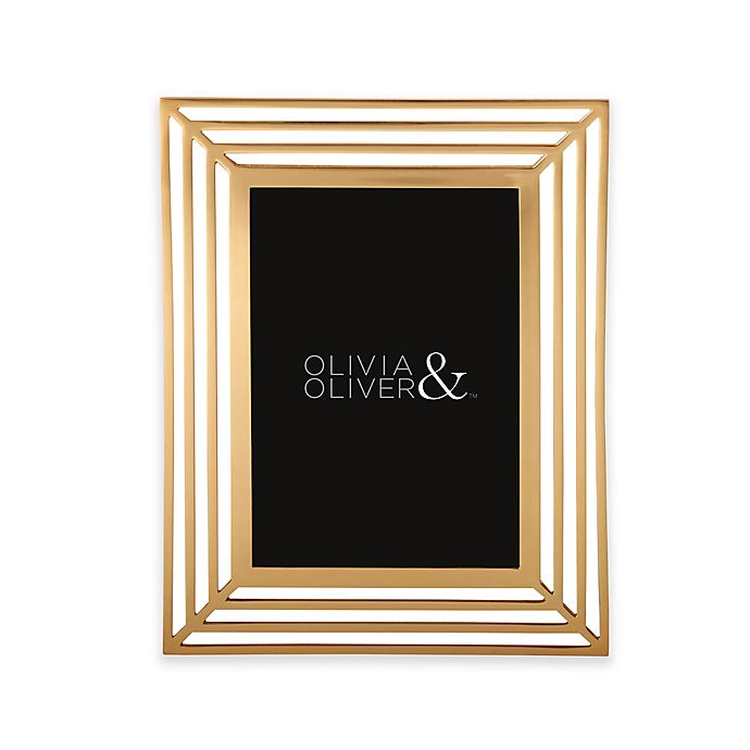 Alternate image 1 for Olivia & Oliver® Chloe 5-Inch x 7-Inch Picture Frame in Gold
