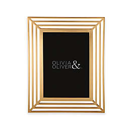 Olivia & Oliver® Chloe 5-Inch x 7-Inch Picture Frame in Gold