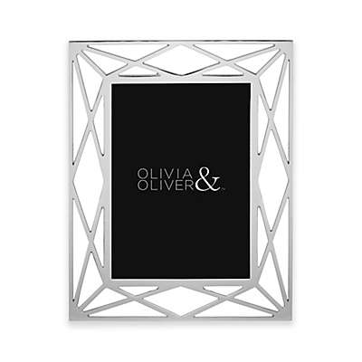 Olivia & Oliver Mila 5-Inch x 7-Inch Picture Frame in Silver