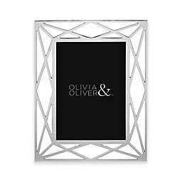 Olivia & Oliver® Mila 5-Inch x 7-Inch Picture Frame in Silver