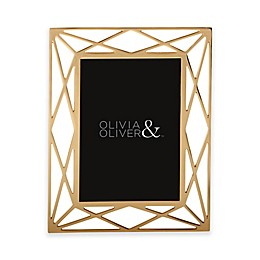 Olivia & Oliver® Mila 5-Inch x 7-Inch Picture Frame in Gold
