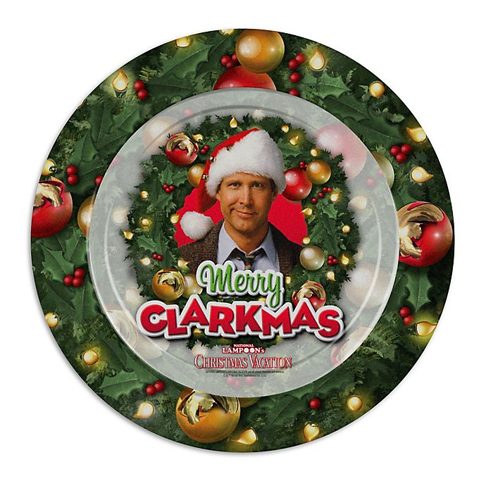 Icup National Lampoons Christmas Vacation Merry Clarkmas Dinner Plates Set Of 12