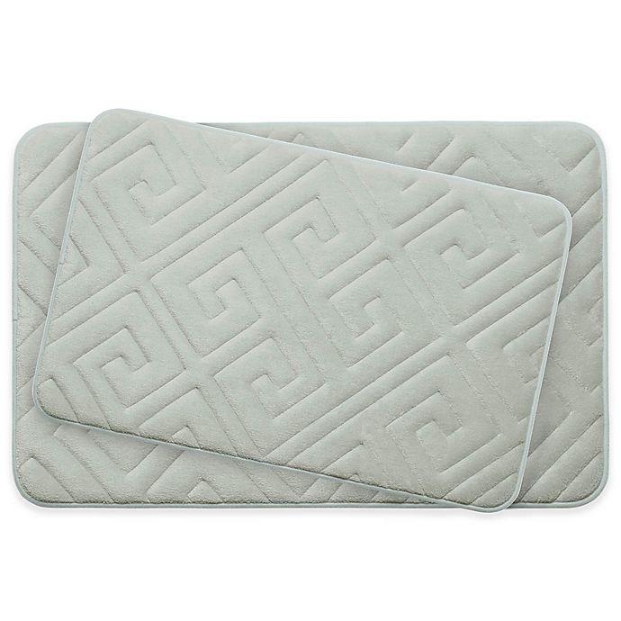 Bounce Comfort Caicos Memory Foam 2 Piece Bath Mat Set