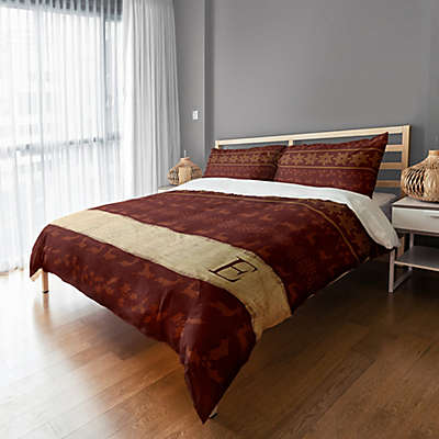 Rustic Holiday Duvet Cover in Red/Beige