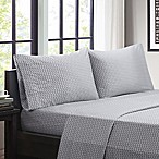 Intelligent Design Chevron Microfiber Queen  Sheet Set in Grey