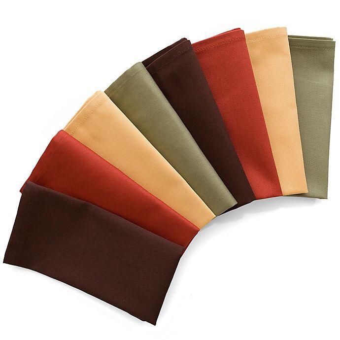Alternate image 1 for 8-Pack Harvest Napkins in Assorted Colors