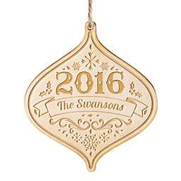 2016 Wood Laser Engraved Christmas Ornament