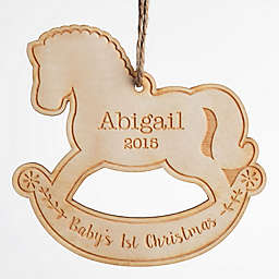 """""""Baby's 1st Christmas"""" Wood Ornament"""