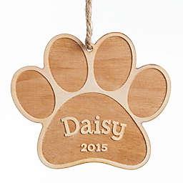Dog Paw Wood Ornament
