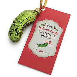Christmas Pickle Glass Ornament