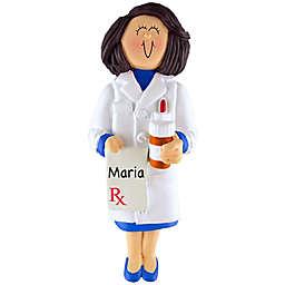 Female Pharmacist Christmas Ornament