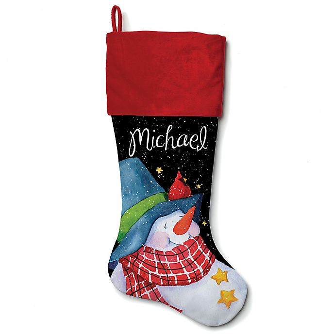 Alternate image 1 for 21-Inch Cotton Snowman with a Blue Hat Stocking