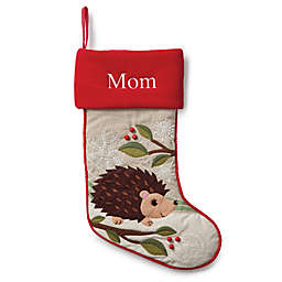 Forest Friends 21-Inch Hedgehog Christmas Stocking