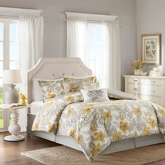 Gabrielle Floral Design Duvet Cover Sets Bedding Sets With Matching Fitted Sheet