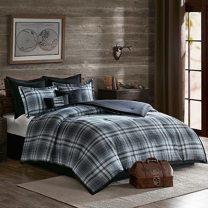 woolrich bernard reversible comforter set in grey bed bath beyond. Black Bedroom Furniture Sets. Home Design Ideas