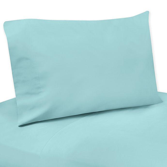 Alternate image 1 for Sweet Jojo Designs Emma Sheet Set in White/Turquoise