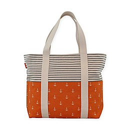 CB Station 14-Inch Carryall Tote with Anchors and Stripes