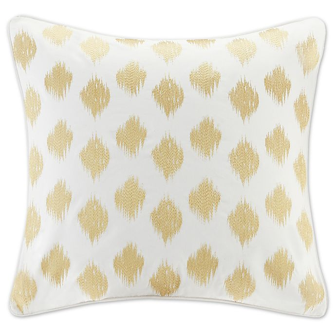 Alternate image 1 for INK+IVY Nadia Dot European Pillow Sham in Gold