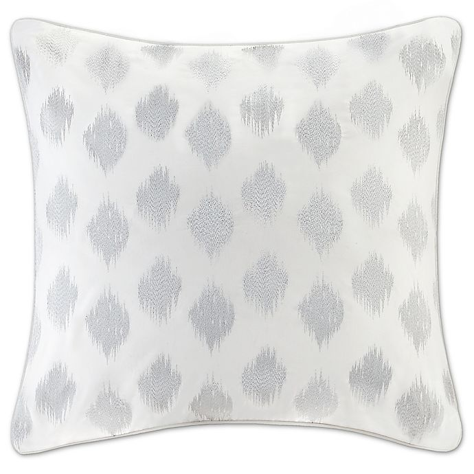 Alternate image 1 for INK+IVY Nadia Dot European Pillow Sham in Silver