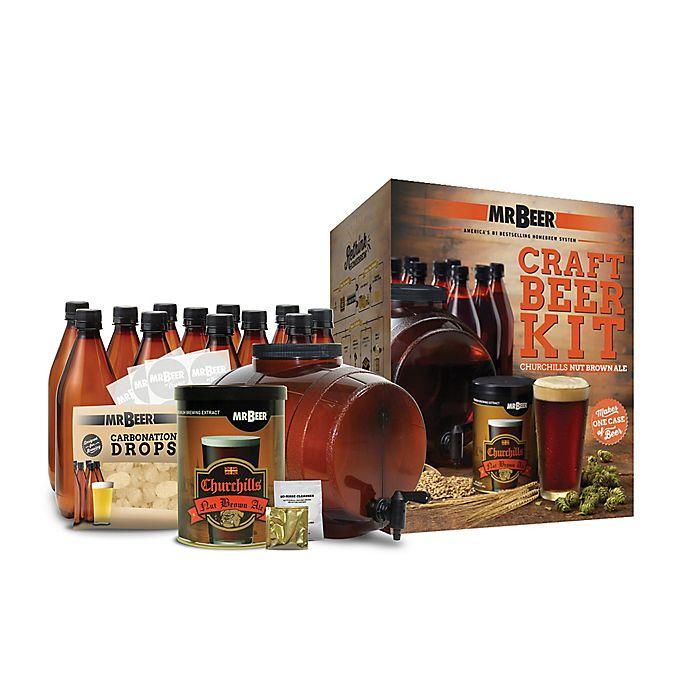 Alternate image 1 for Mr. Beer Churchills Nut Brown Ale Complete Beer Kit