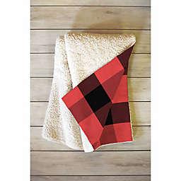 Deny Designs Allyson Johnson Winter Plaid 50-Inch x 60-Inch Fleece Throw Blanket
