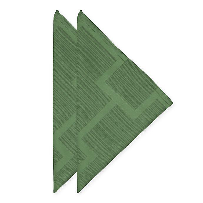 Alternate image 1 for Origins™ Tribeca Microfiber Napkins in Green (Set of 2)