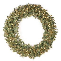 National Tree Company Feel Real® 48-Inch Downswept Douglas Wreath with Warm White LED Lights