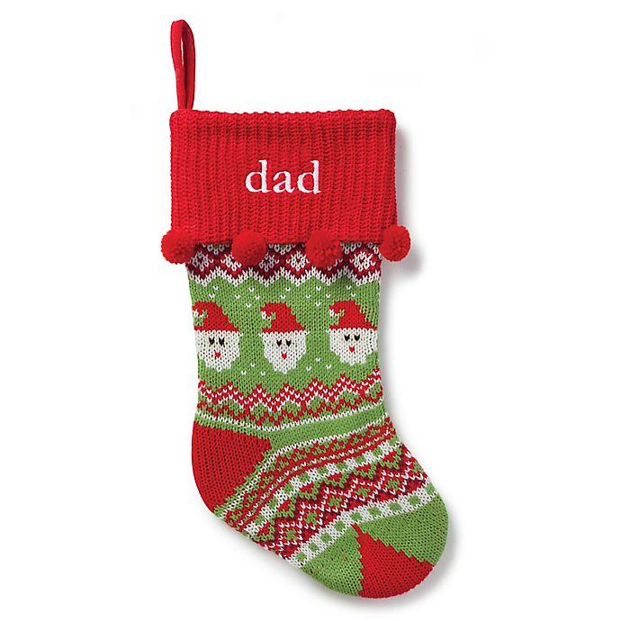 Alternate image 1 for Santa Knit 20-Inch Christmas Stocking