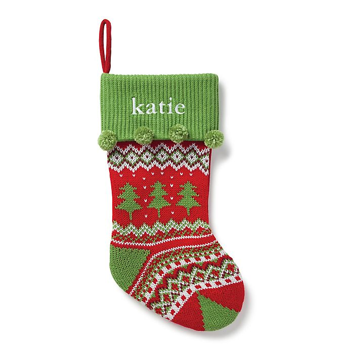 Alternate image 1 for Tree Knit 20-Inch Christmas Stocking