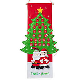 Santa and Mrs. Claus 36-Inch Advent Calendar