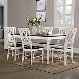 Crosley Furniture Shelby 7-Piece Dining Set in White